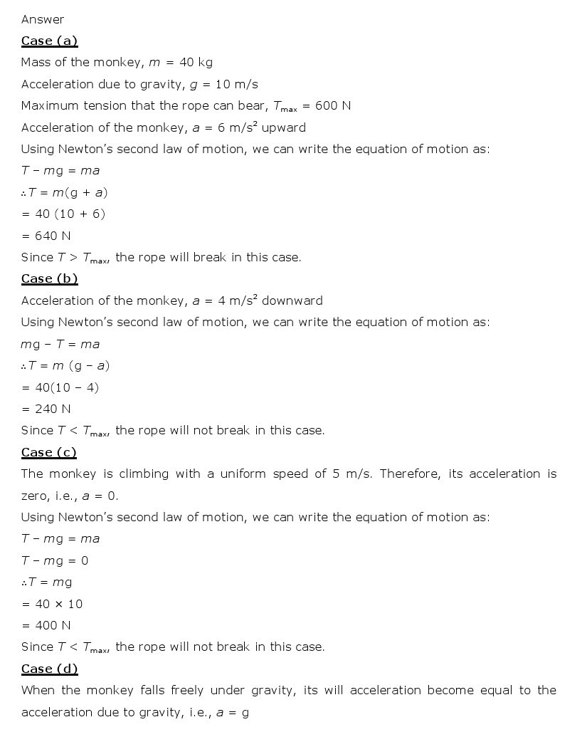11th, Physics, Laws of motion 31