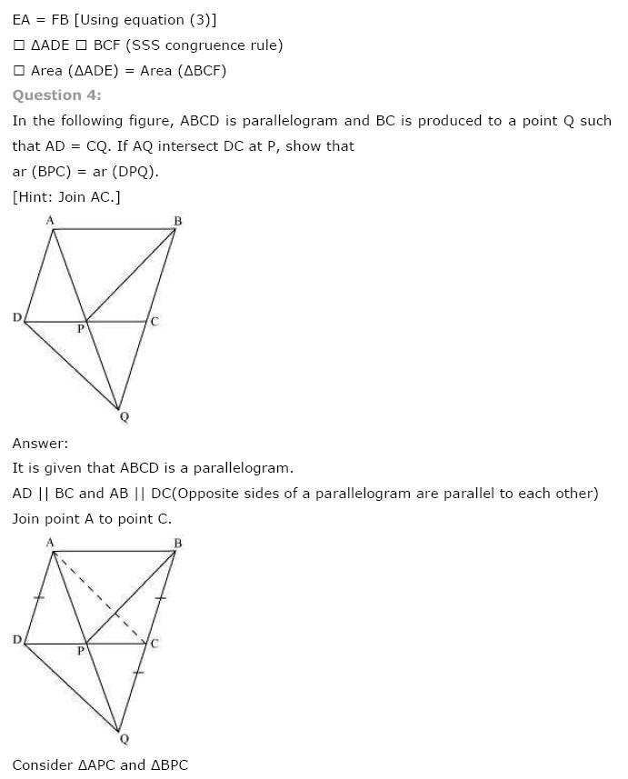 Areas of Parallelograms NCERT Solutions 28