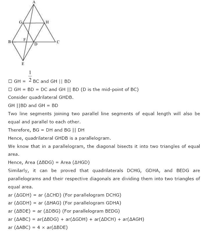 Areas of Parallelograms NCERT Solutions 31