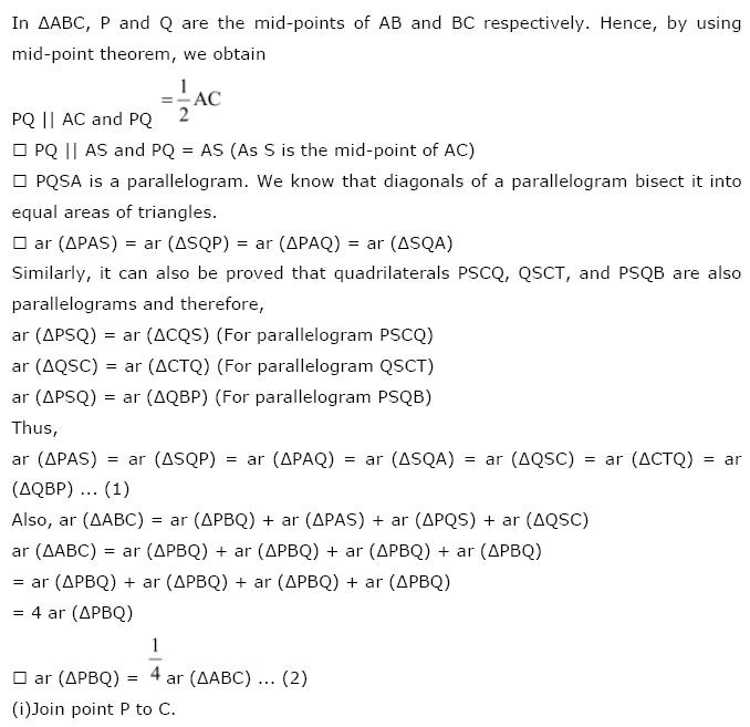 Areas of Parallelograms NCERT Solutions 36