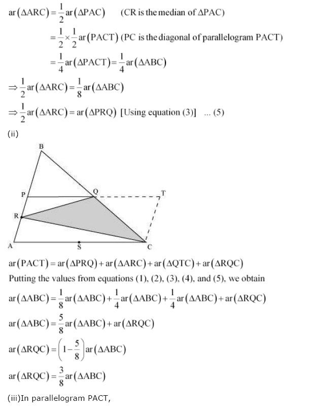 Areas of Parallelograms NCERT Solutions 38