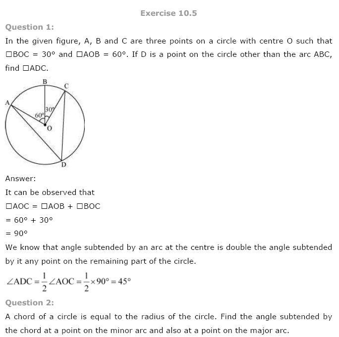 Circles NCERT Solutions 16
