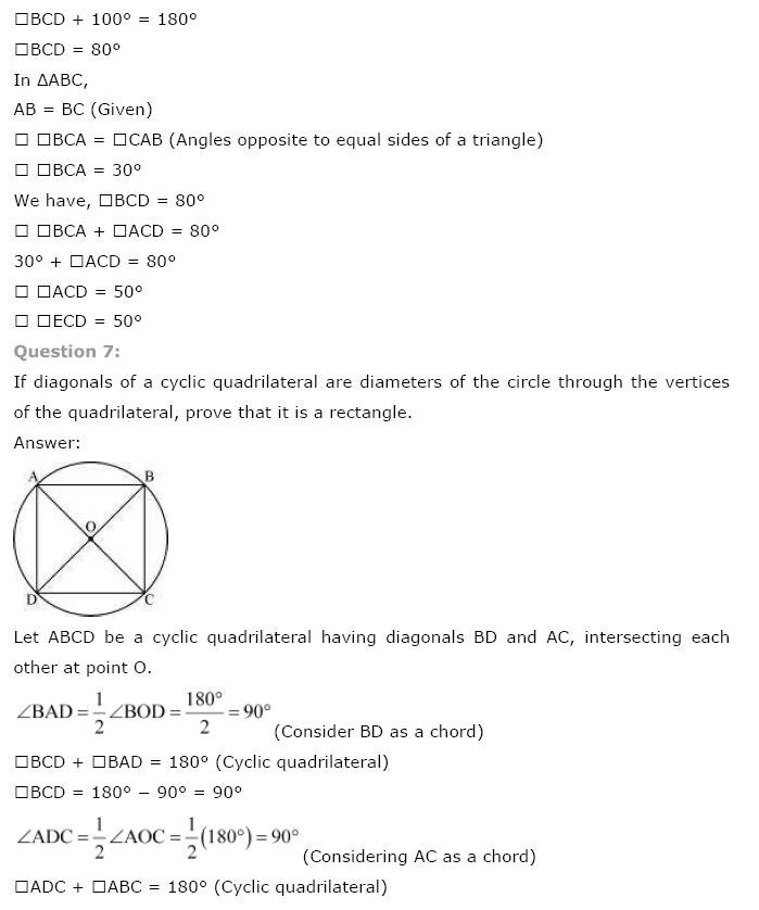 Circles NCERT Solutions 21