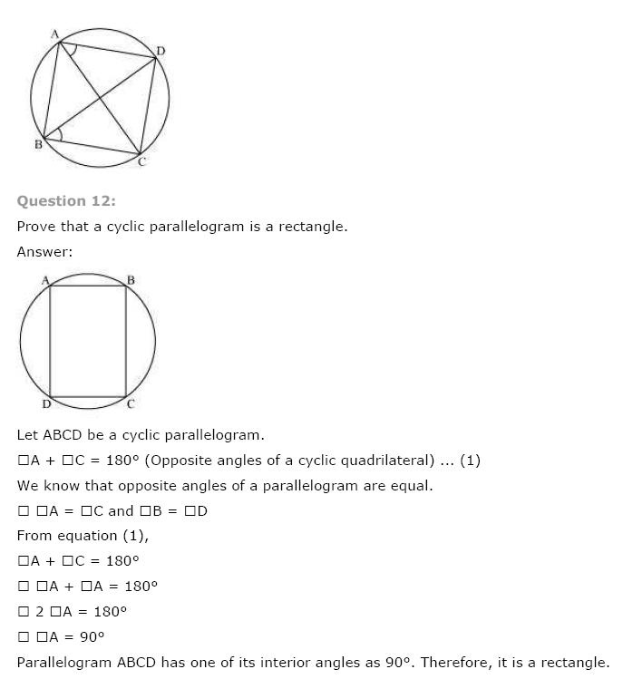 Circles NCERT Solutions 26