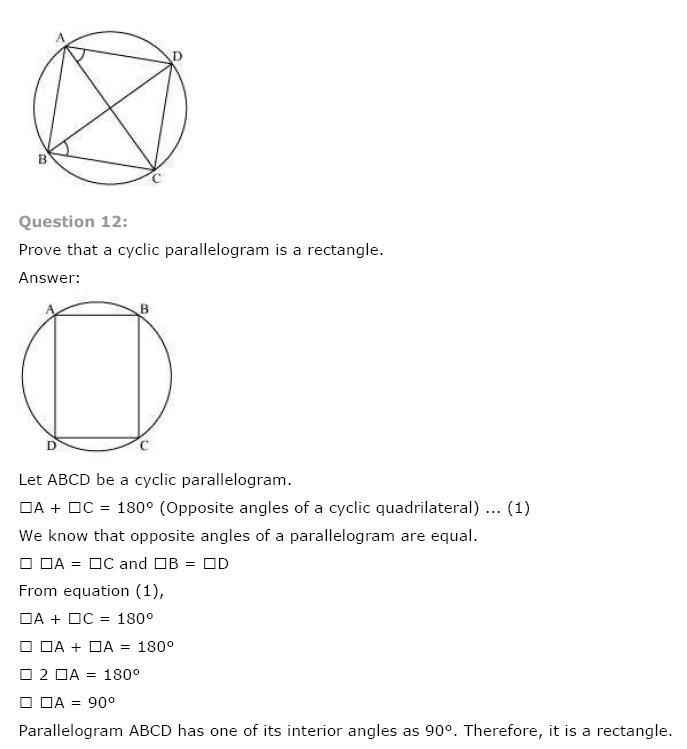 Circles NCERT Solutions 26
