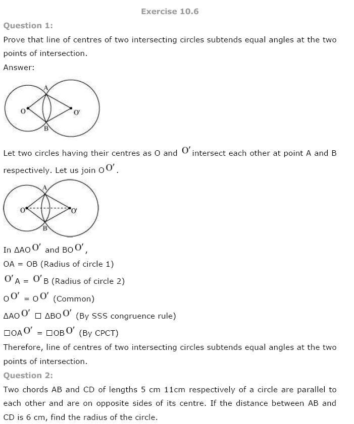 Circles NCERT Solutions 27