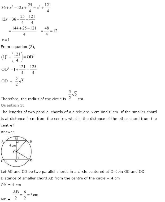 Circles NCERT Solutions 29