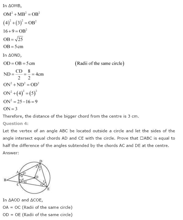 Circles NCERT Solutions 30