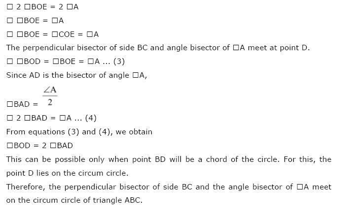 Circles NCERT Solutions 37