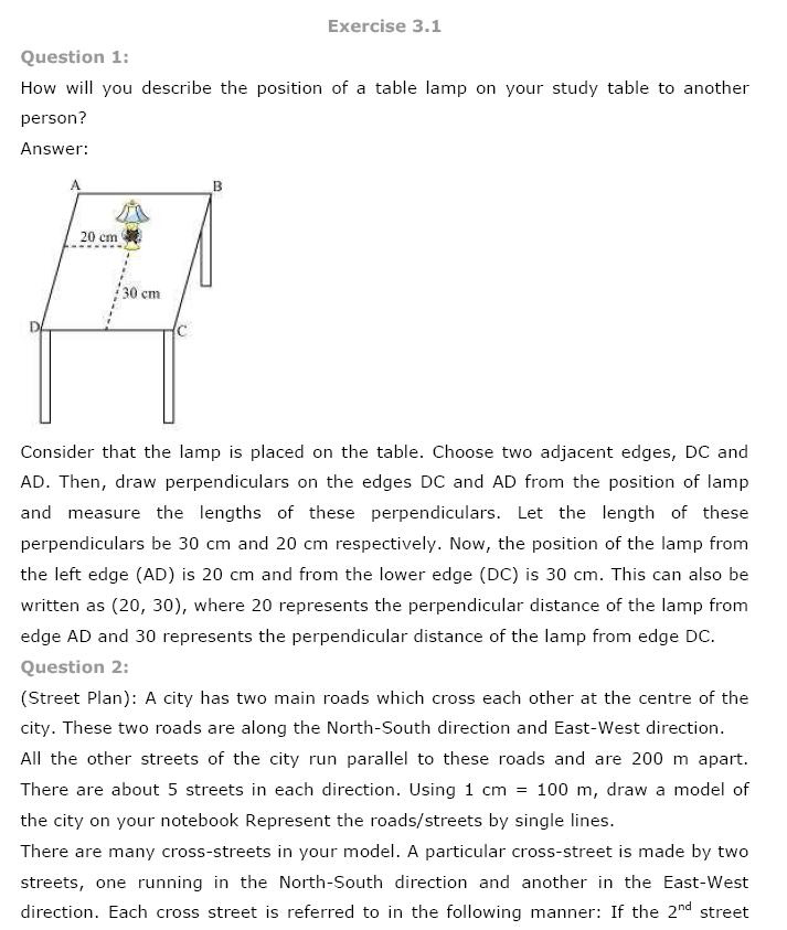 Coordinate Geometry NCERT Solutions 1