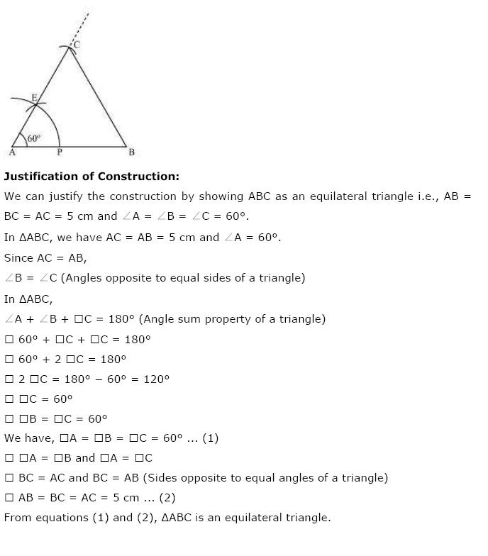 Geometric Constructions NCERT Solutions 10