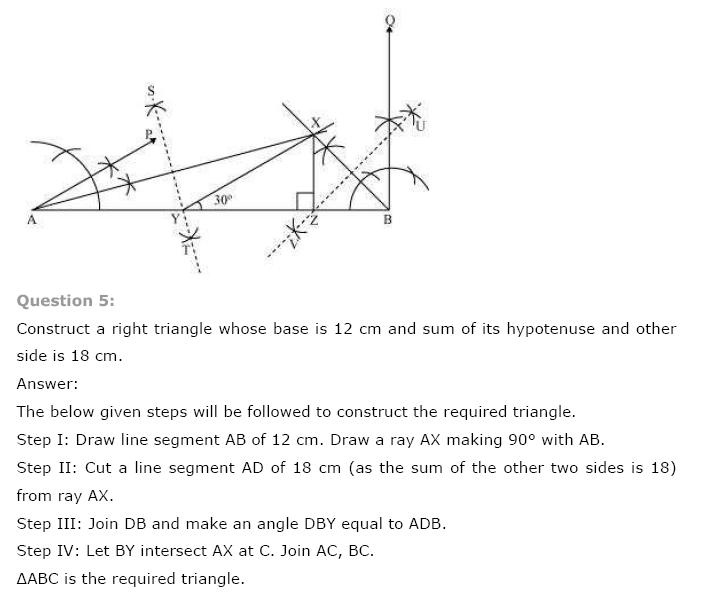 Geometric Constructions NCERT Solutions 14