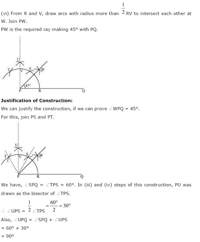 Geometric Constructions NCERT Solutions 3