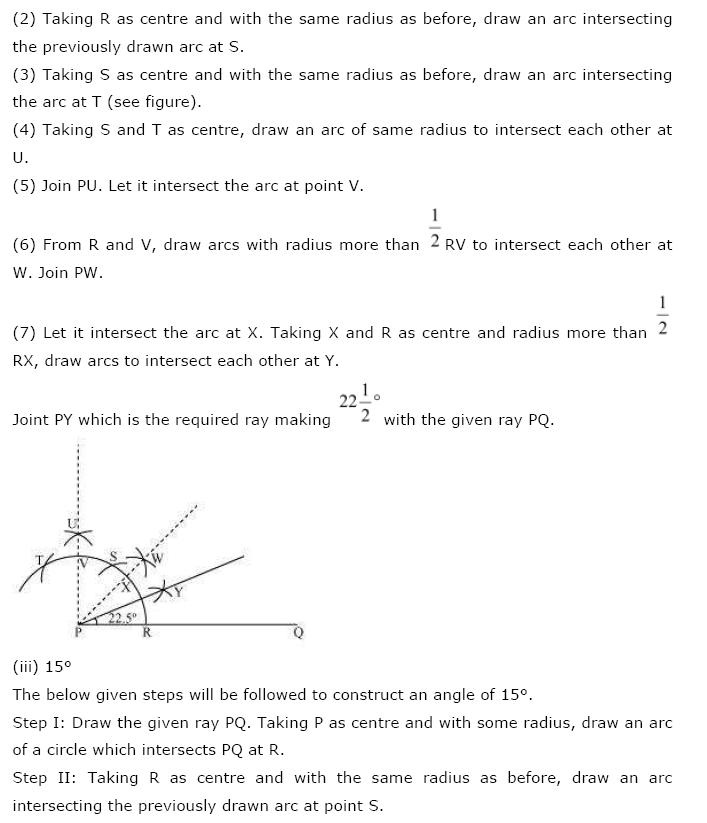 Geometric Constructions NCERT Solutions 5