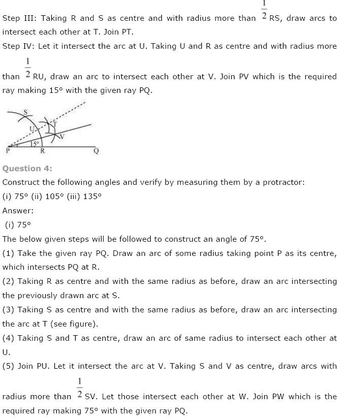 Geometric Constructions NCERT Solutions 6