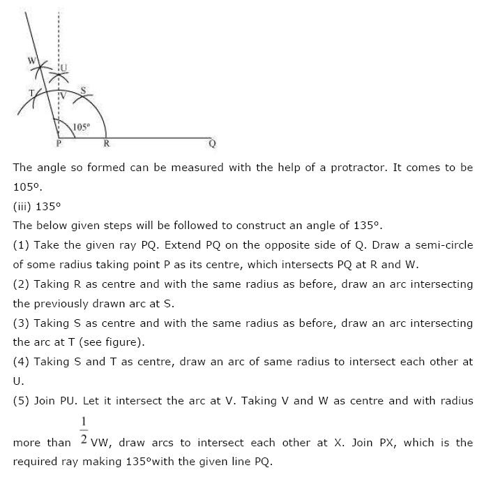 Geometric Constructions NCERT Solutions 8