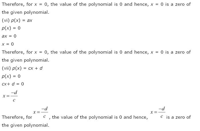 Polynomials NCERT Solutions 10