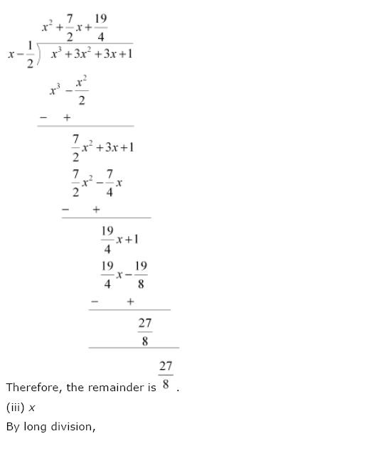 Polynomials NCERT Solutions 12