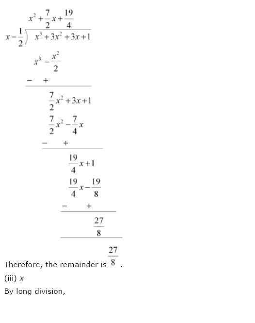 Polynomials NCERT Solutions 12