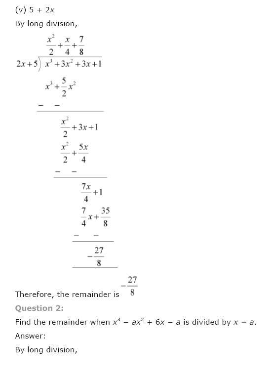 Polynomials NCERT Solutions 14