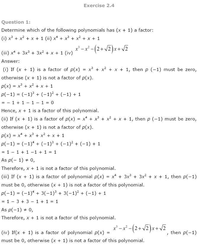 Polynomials NCERT Solutions 17