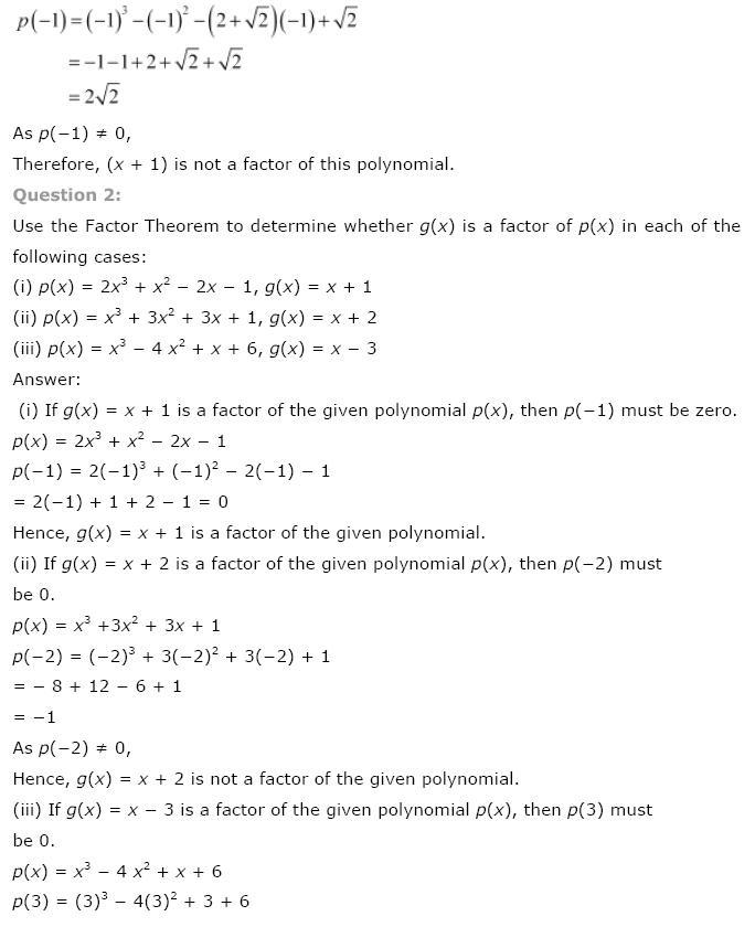 Polynomials NCERT Solutions 18