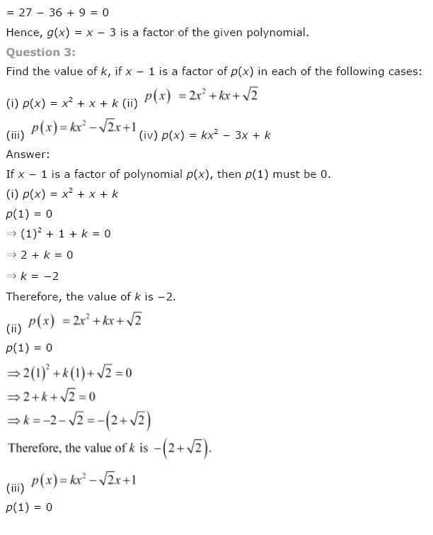 Polynomials NCERT Solutions 19