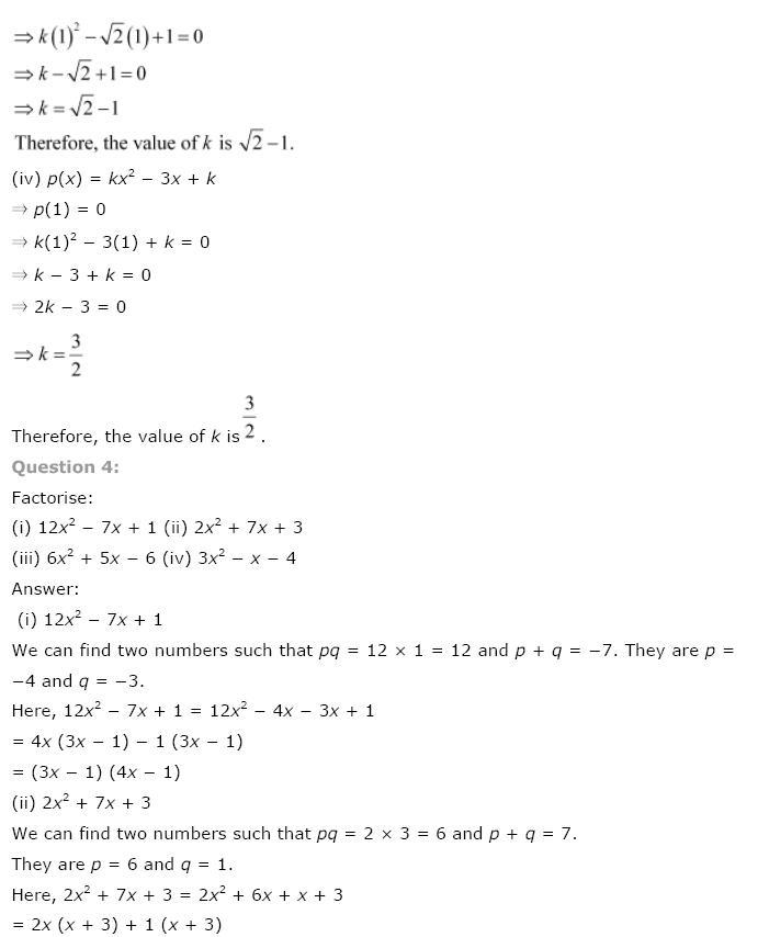 Polynomials NCERT Solutions 20