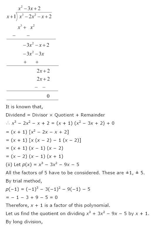 Polynomials NCERT Solutions 22
