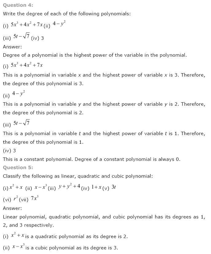 Polynomials NCERT Solutions 3