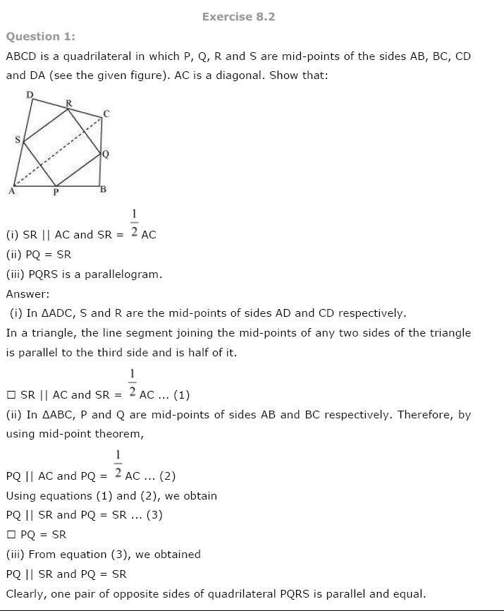 Quadrilaterals NCERT Solutions 14