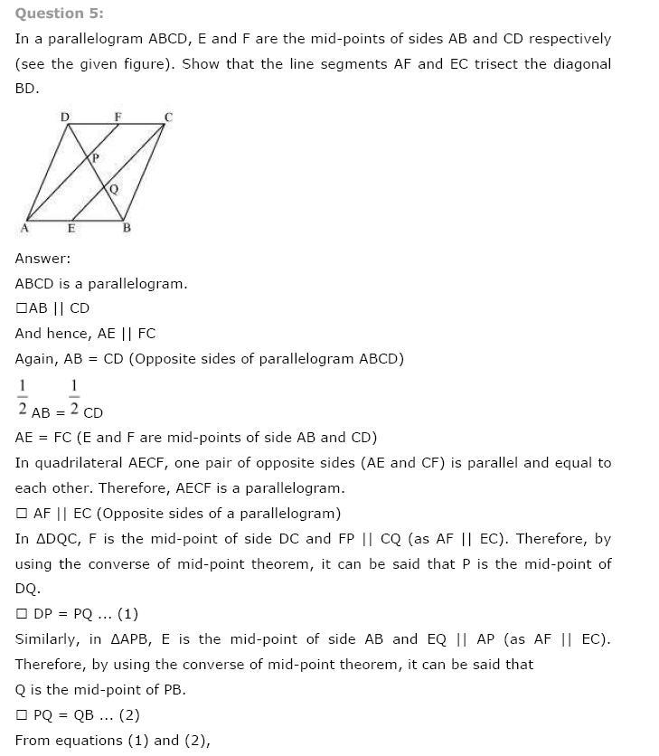 Quadrilaterals NCERT Solutions 18