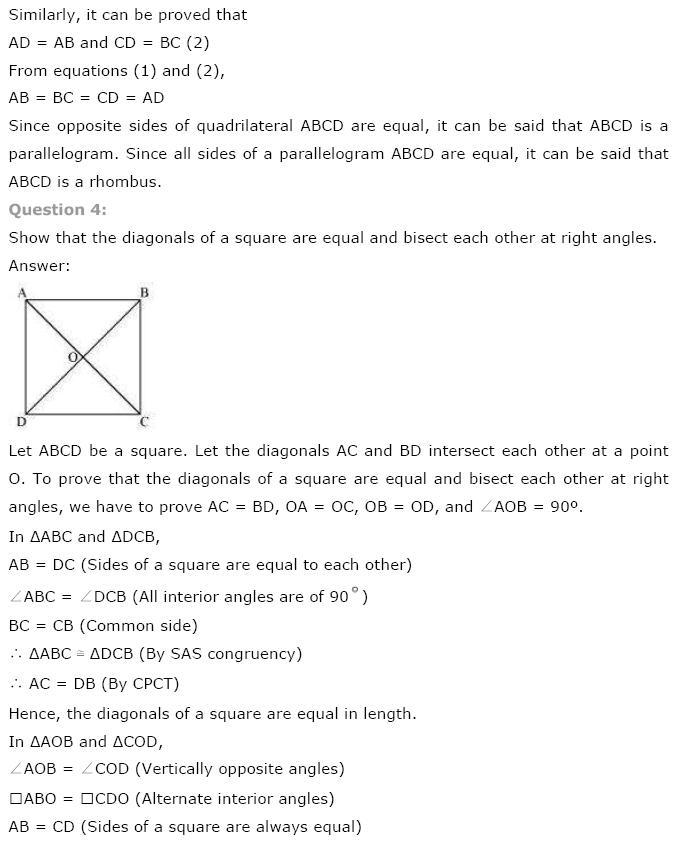 Quadrilaterals NCERT Solutions 3