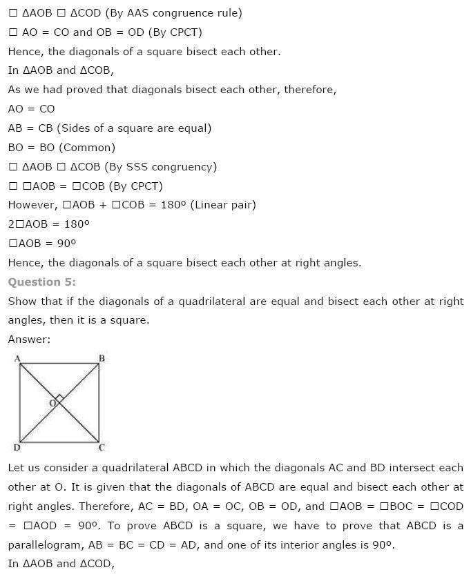 Quadrilaterals NCERT Solutions 4