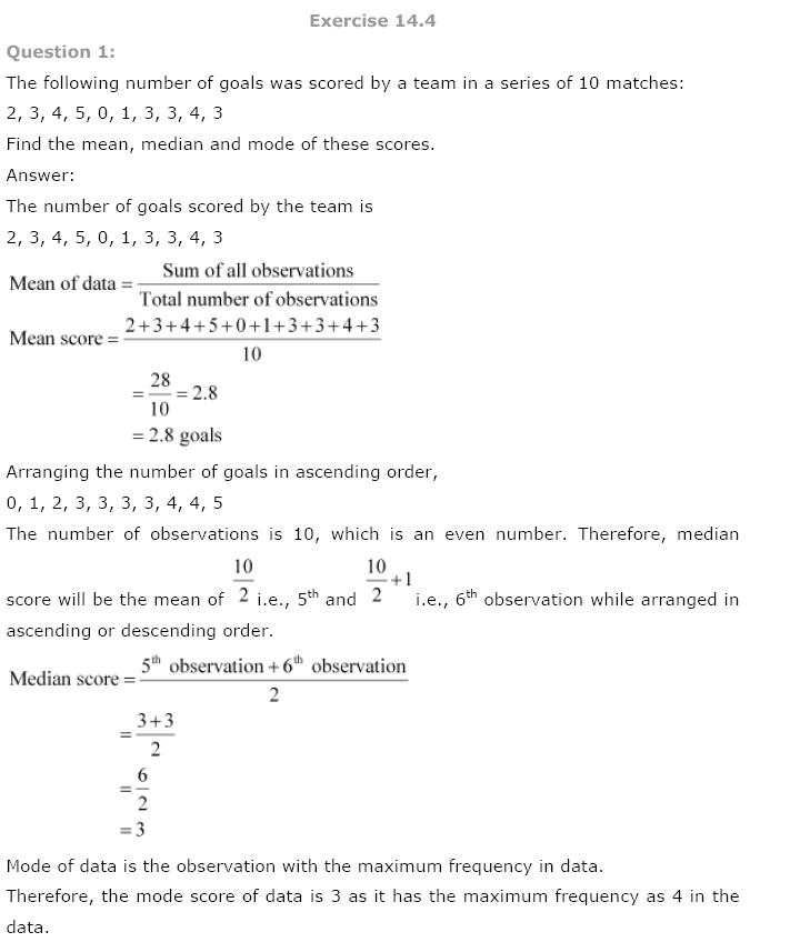 Statistics NCERT Solutions 25