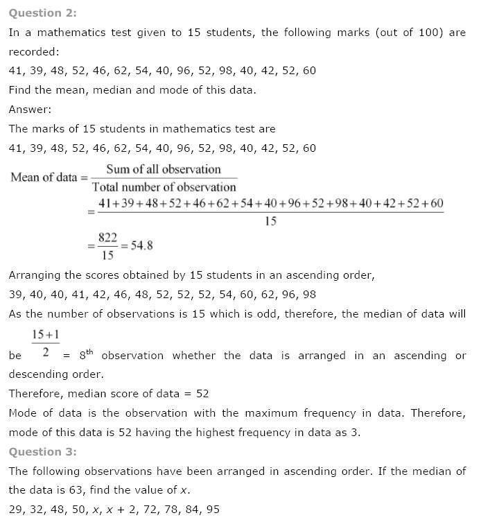Statistics NCERT Solutions 26