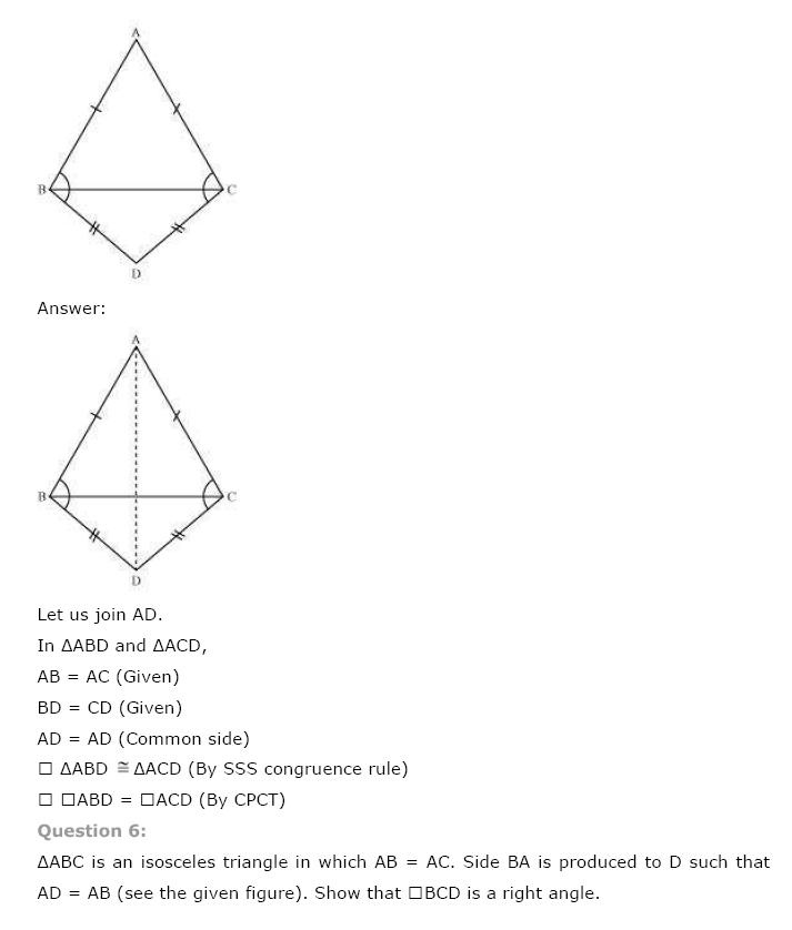Triangles NCERT Solutions 10