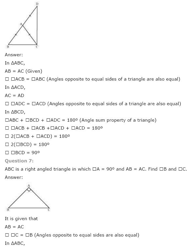 Triangles NCERT Solutions 11