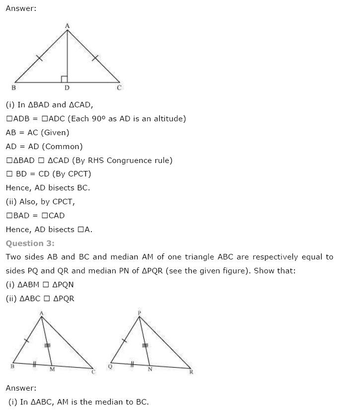 Triangles NCERT Solutions 15