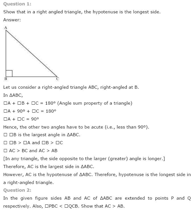 Triangles NCERT Solutions 18
