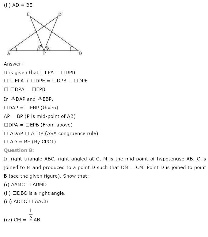 Triangles NCERT Solutions 5